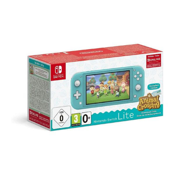 CONSOLA NINTENDO SWITCH LITE AZUL TURQUESA + ANIMAL CROSSING