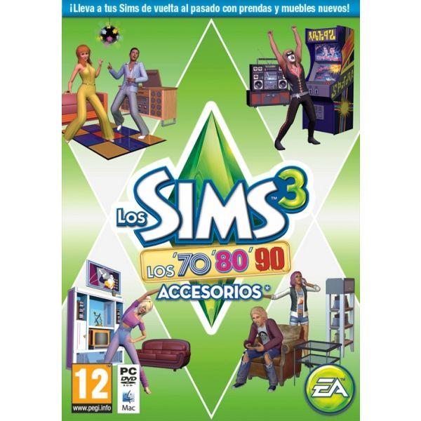 PC LOS SIMS 3 DECADA 70 80 Y 90 DISCO DE ACCESORIOS