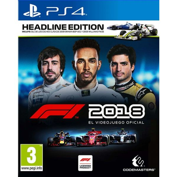 PS4 FORMULA 1 2018 HEADLINE EDITION