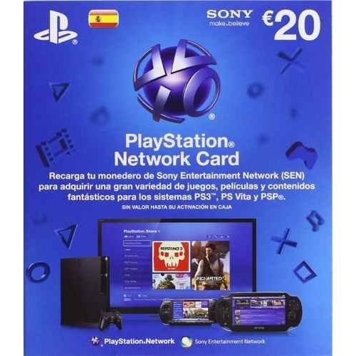 PSN TARJETAS DE CARGA 20 € (PS3,PSP,PSVITA)