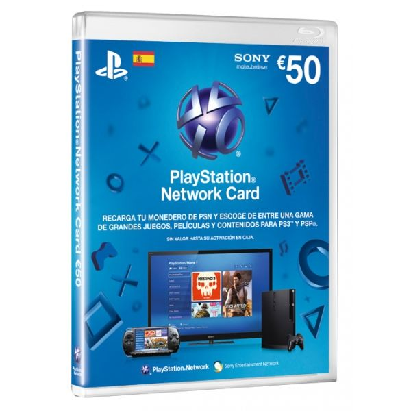 PSN TARJETAS DE CARGA 50 € (PS3,PSP,PSVITA)