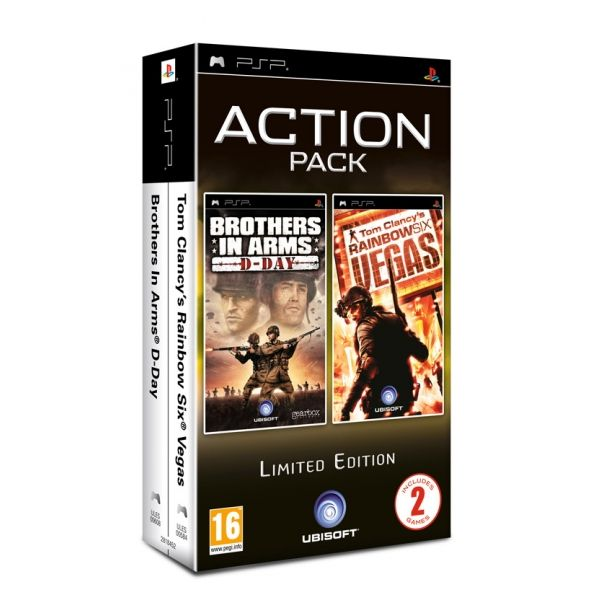 PSP PACK BROTHERS IN ARMS D-DAY + RAINBOW SIX LAS VEGAS