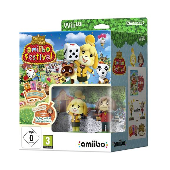 WIIU ANIMAL CROSSING : AMIIBO FESTIVAL + 2 FIGURAS