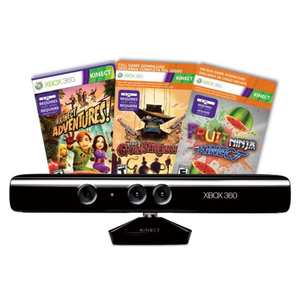 X360 Sensor Kinect + 3 juegos
